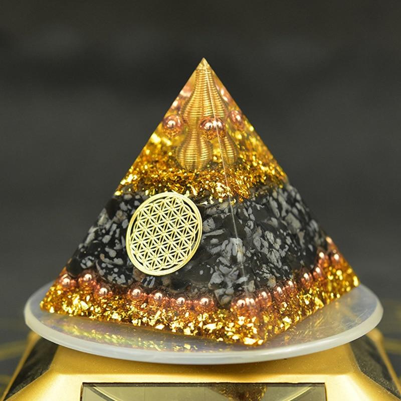 Reiki Orgonite Energy Orgon Pyramid Gathering Fortune Helping Soothe the soul Chakra Resin Decorativ