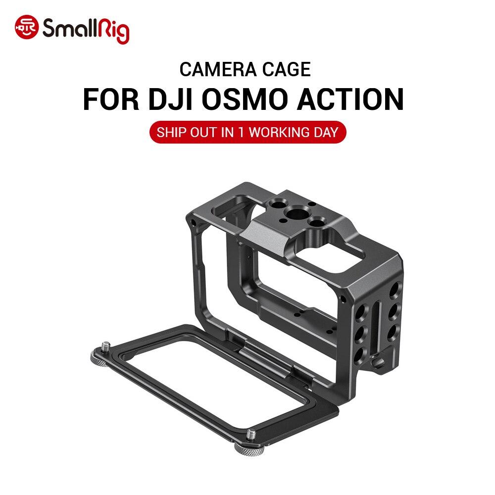 Smallrig capa protetora para câmera de ação, capa protetora para câmera dji osmo, acessórios para câmera de ação com adaptador de 52mm para filtros e filtros lente grande angular