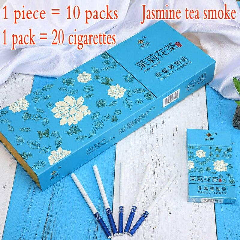 الشاي دخان التبغ سميكة صحية الياسمين الشاي الدخان الإقلاع عن التدخين 100% دخاني-100 ٪ النيكوتين الحرة