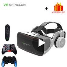 Shinecon-casco de realidad Virtual para teléfono inteligente, gafas 3D para Smartphone, auriculares, binoculares, lentes para videojuegos