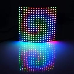 Ws2812b 16x16 pixel 256 pixel digital flexível led painel individualmente endereçável 5050 rgb sonho completo cor dc5v