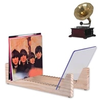 vinyl record storage holder display stand holds up to 25 albums