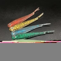 hunthouse forktail fish soft lure easy shiner silicone worm wobblers double color baits for texpose rigging