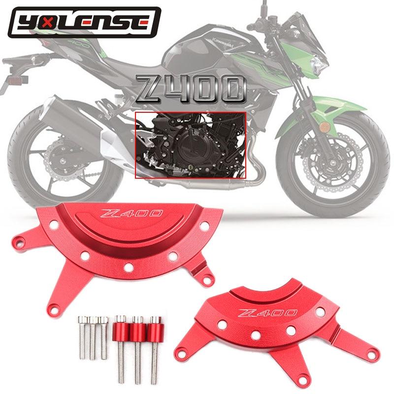 Para KAWASAKI Z400 Z 400, 2018, 2019, 2020 de la motocicleta CNC aluminio cubierta de estator de motor caso Slider Protector