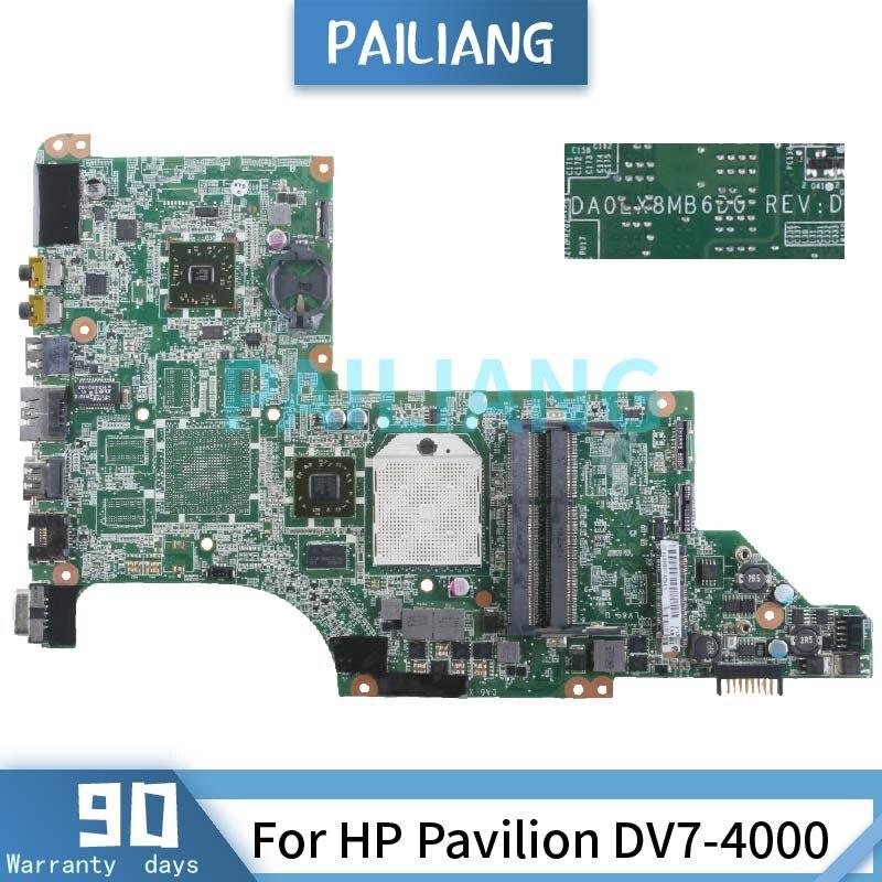 ل HP جناح DV7-4000 DV7-4153CL dv7-4165dx dv7-4065dx دفتر اللوحة الأم 605496-001 DA0LX8MB6D1 DDR3 اللوحة المحمول