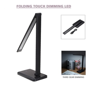 USB Desk Reading Light Dimmable LED Charging Table Lamp Bedside Night Light Touch Control For Home Chridren Bedroom