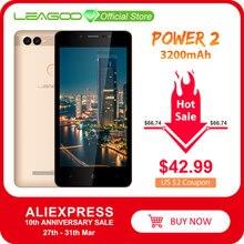 """LEAGOO POWER 2 telefon komórkowy Android 8.1 5.0 """"HD IPS 2GB RAM 16GB ROM MT6580A czterordzeniowy podwójny aparat id odcisku palca 3G Smartphone"""