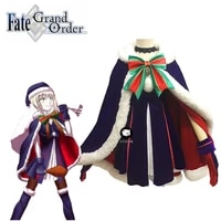 fate grand order black saber christmas dress uniform cloak outfit anime cosplay costumes
