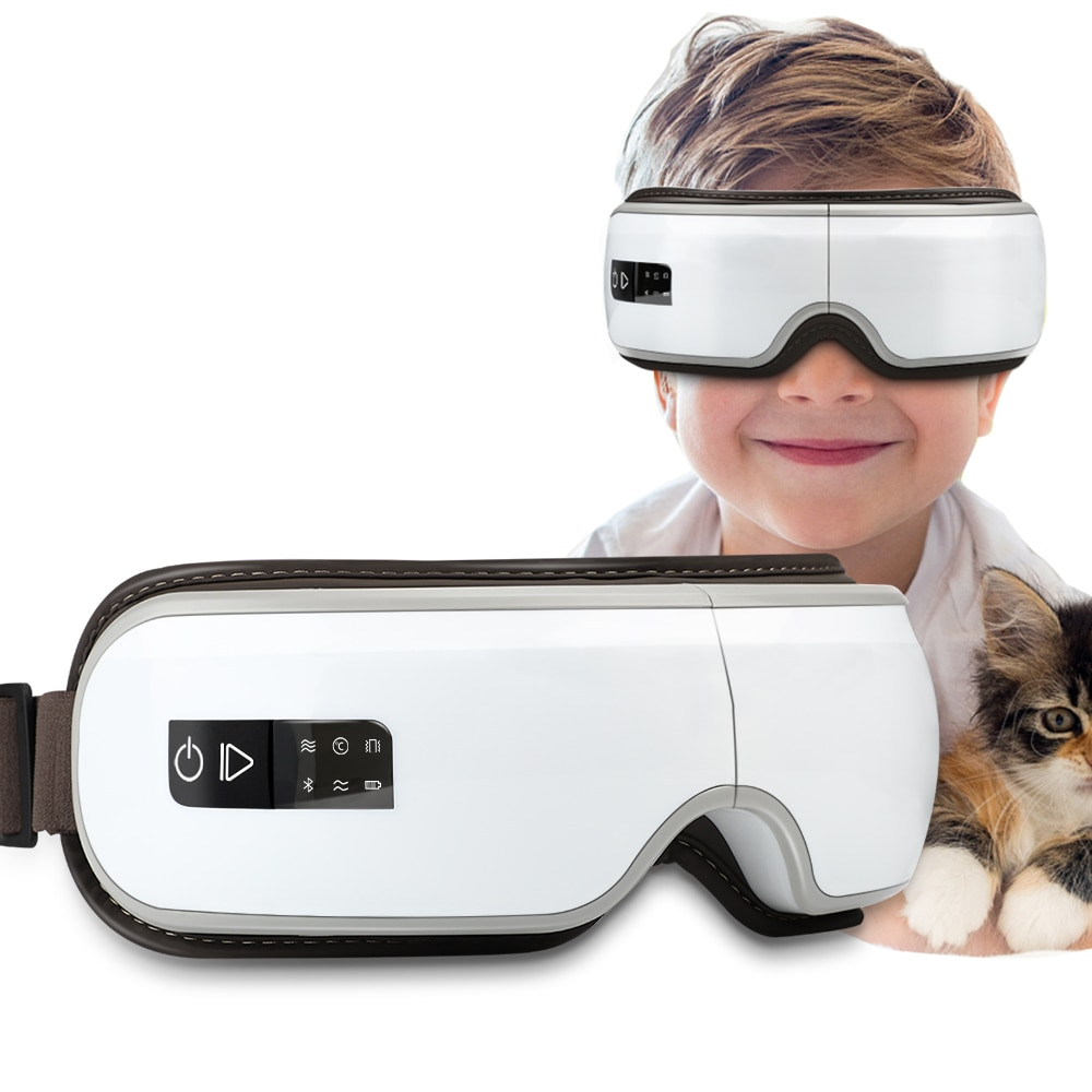 الكهربائية العين مدلك الساخن ضغط تدليك نظارات الاهتزاز عيون تدليك جهاز العناية للعيون المتعبة العين مكافحة التجاعيد
