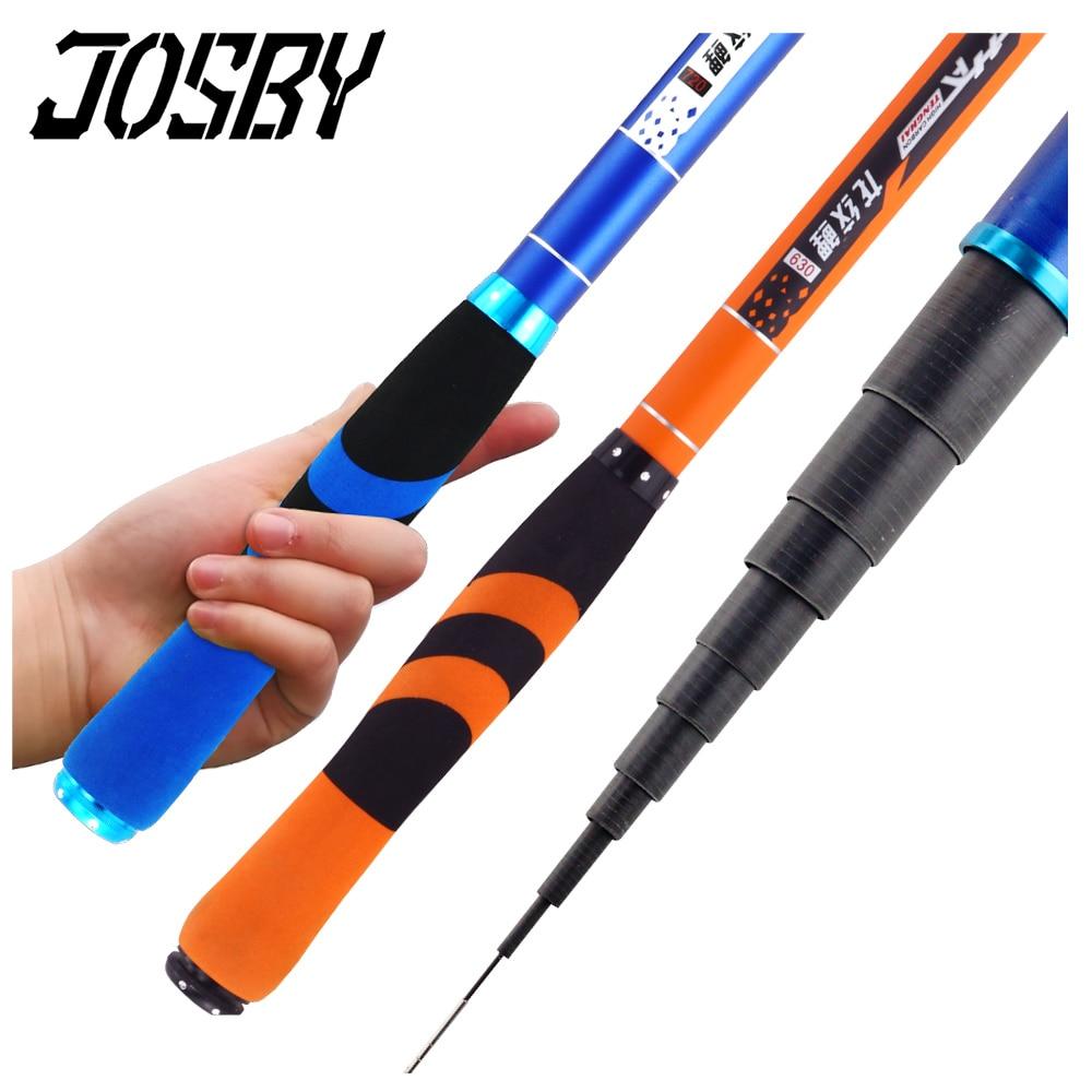 JOSBY 2020 New Stream Fishing Rods Pesca 2.7m-7.2m Carbon Fiber Telescopic Fishing Rod Hand Pole Feeder for Carp  Olta Tackles