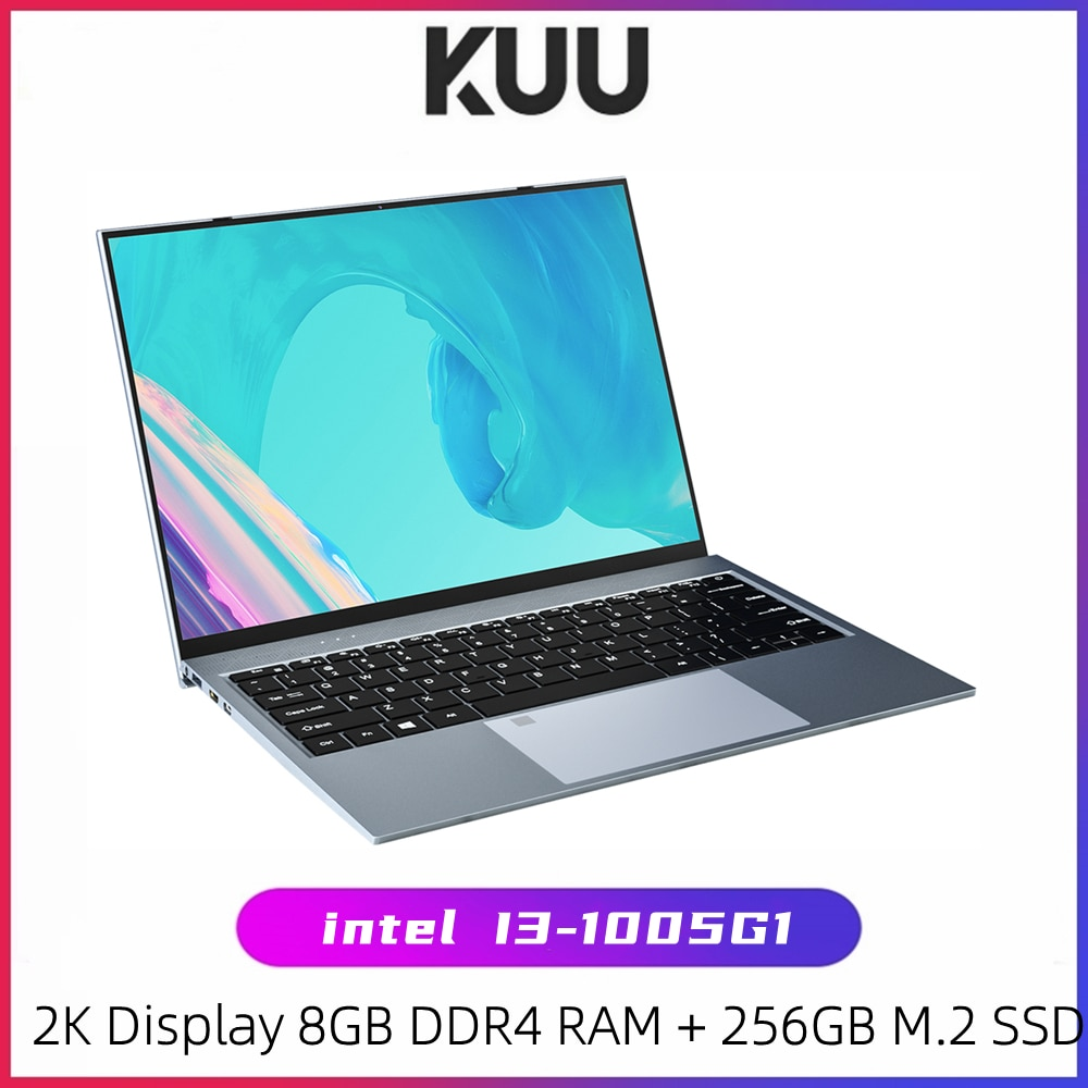 KUU X13 13.5 Inch Intel i3-1005G1 Gaming Laptop Fingerprint All Metal 8GBDDR4 RAM 256GB SSD Windows 10 Notebook Backlit Keyboard