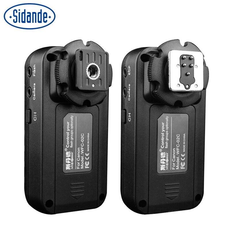 Sidande-disparador de Flash inalámbrico WFC-02, 2,4 GHz, para Canon 5D3 60D 70D 600D 700D 100D EOS DSLR, para Nikon D600 D610 D800 D3100 D7000