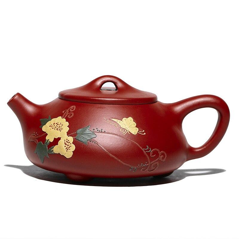 Pote de colher de pedra perfumado, pote de areia roxa, areia roxa, yixing, conjunto de chá chinês, utensílios de beber, zisha, drinkware, utensílios de chá