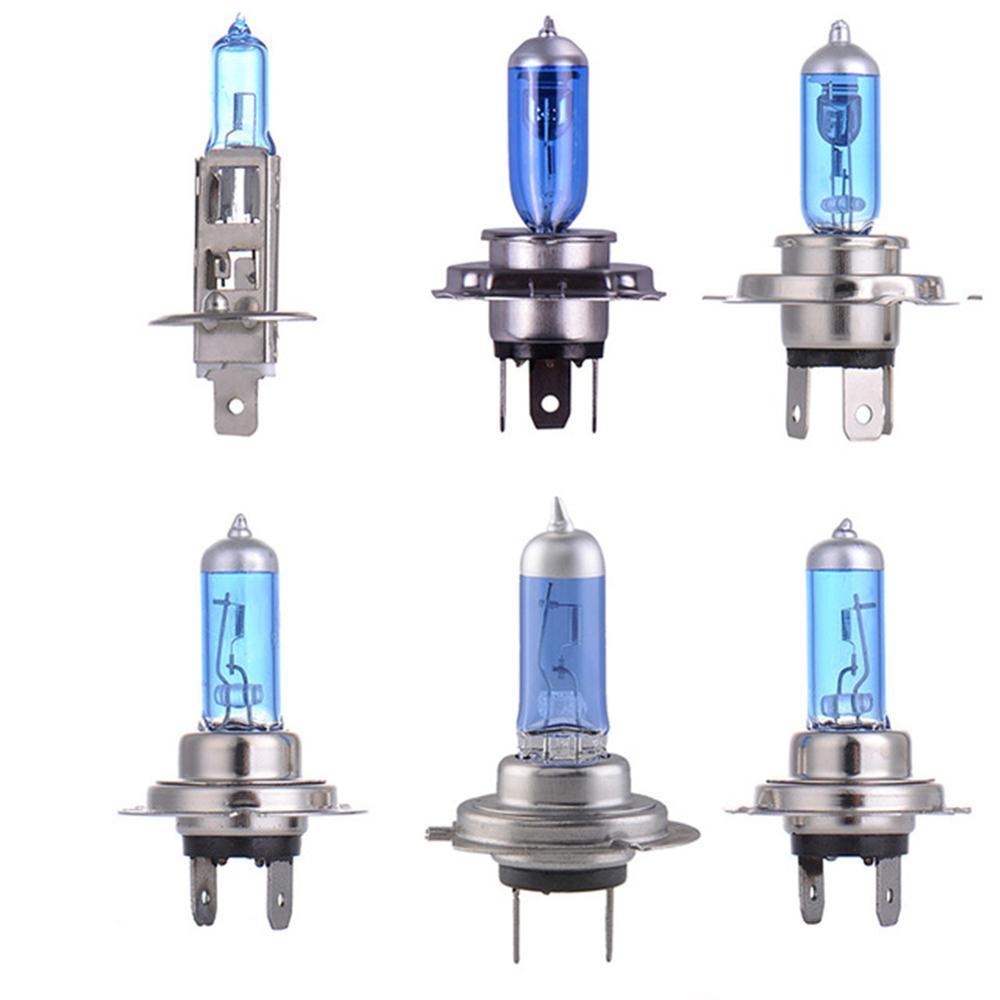 Автомобильная лампа, 2 шт., супер яркая белая H1 H4 H7 9007 100 Вт/55 Вт 12 В, кварцевое стекло, синяя Автомобильная фара, противотуманная фара