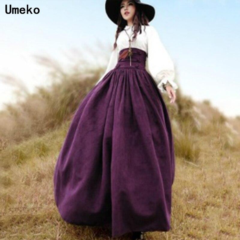 Umeko, falda victoriana larga Vintage de cintura alta para mujer, falda victoriana de espalda Steampunk, traje de Drama, falda larga Coseplay estilo Lolita