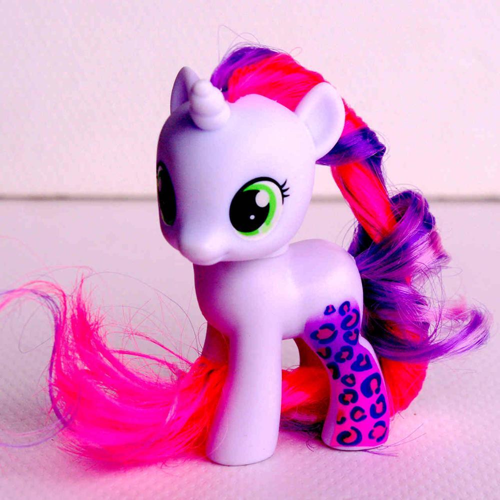 6cm Lovely Pony PVC w/ Mane Sweetie Belle little horse figures dolls for girl birthday gift