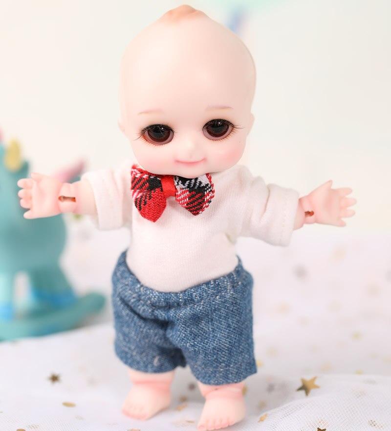 1/8 escala 12cm muñeca BJD lindo BB BJD/SD resina figura muñeca DIY modelo juguete regalo. Juego completo con ropa, zapatos, peluca a0121napychoo