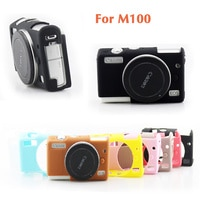 Soft Silicone Rubber Camera Case Cover Body Protective Skin Bag For Canon EOS M100 M200 Hot Protective 8 Color Camera