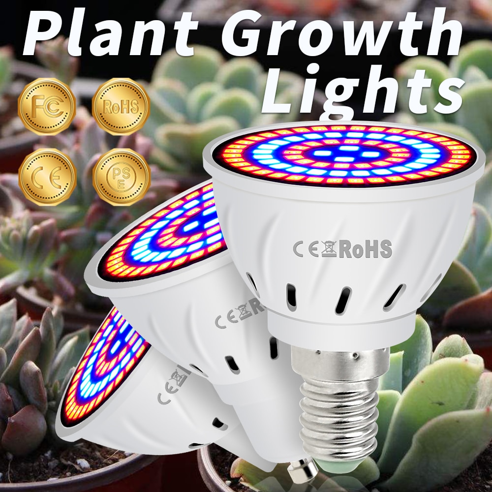 GU10 Phyto Lamps E27 Led Full Spectrum Grow Light MR16 Led Bulbs Seedling 48 60 80leds B22 Plant Gro
