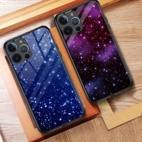 stars case for iphone 11 12 tempered glass case hard back cover gorgeous for iphone 6 6s plus 7 8 plus x xr xs 11 12 pro max