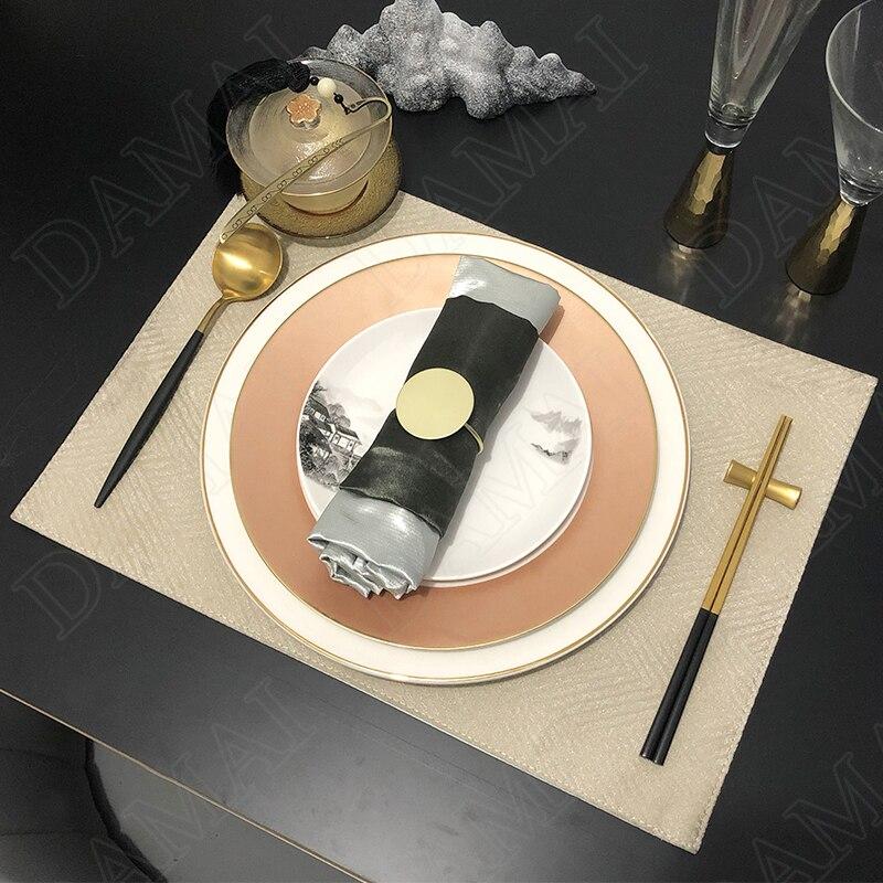 الذهبي السكتة الدماغية السيراميك لوحة مجموعة رسمت الصينية الفاكهة سلطة طبق فندق الديكور أدوات المائدة المطبخ عشاء مجموعة لوحات وأطباق