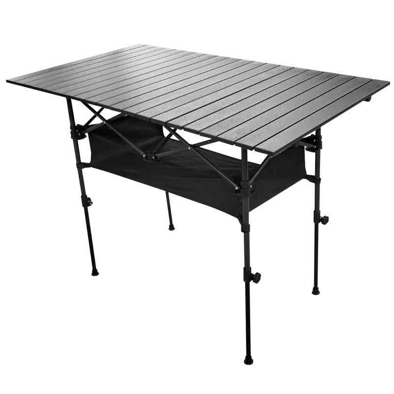 Mesa de Camping al aire libre, Mesa Plegable de aluminio, barbacoa, suministros...
