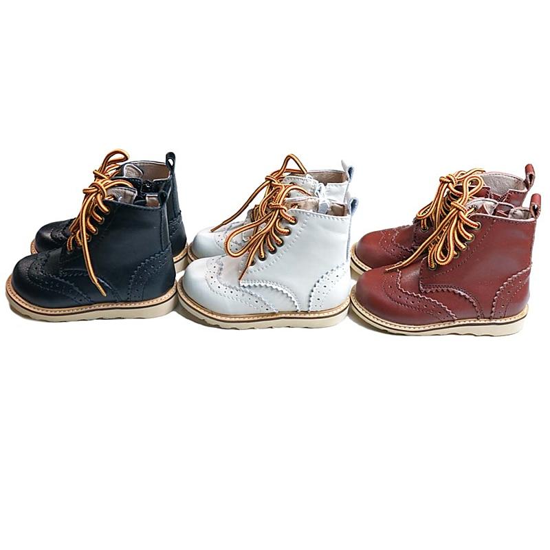 جلد طبيعي الأطفال أحذية ركوب الخيل عالية الجودة الحرفية أحذية أطفال طويلة عدم الانزلاق موضة بنين بنات أحذية أطفال أحذية