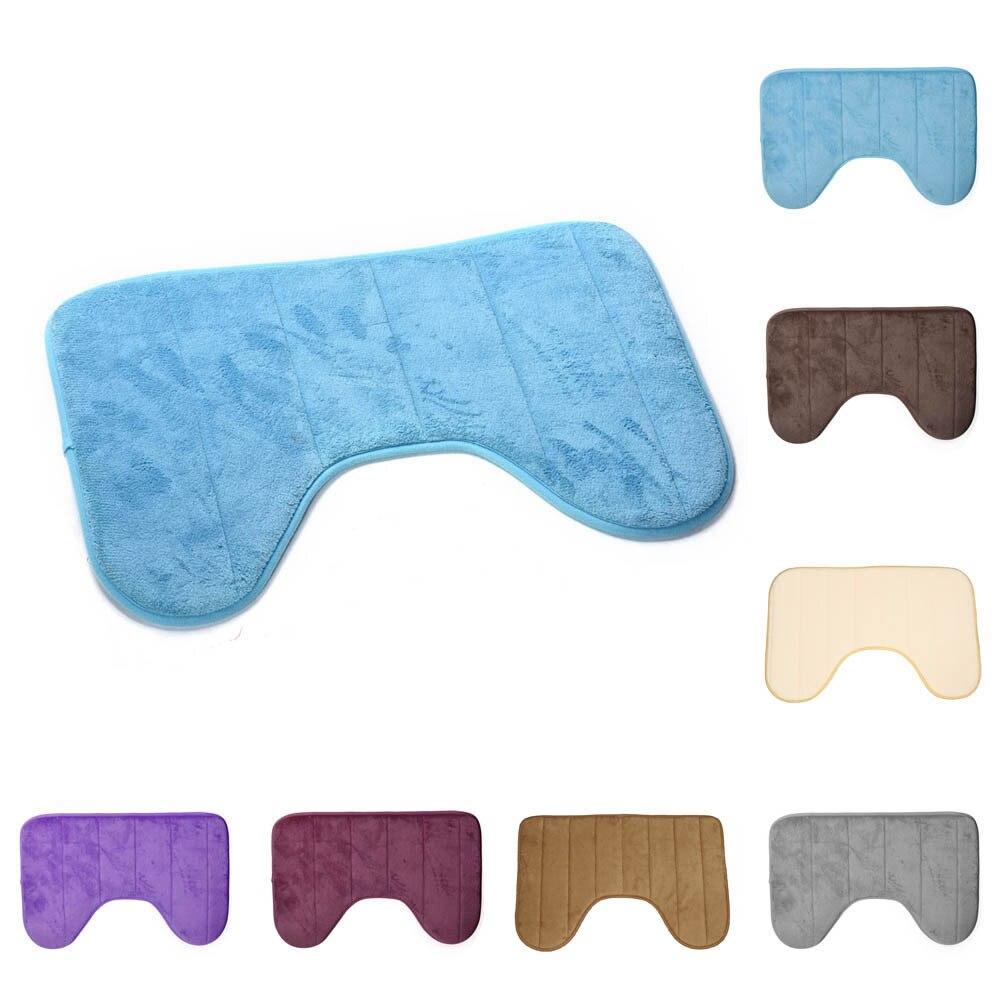 אמבטיה מחצלות 40*60cm חמודה נפוצות U בצורת טפיחות רכות אנטי להחליק בית אמבטיה רצפת מחצלת אסלת שטיח קישוט 1pc #3s