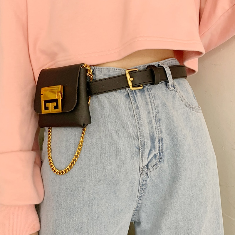 INS Retro Multi-Functional Small Waist Bag Women's Belt 2020 New Chain Original Mini Waist Bag Cell