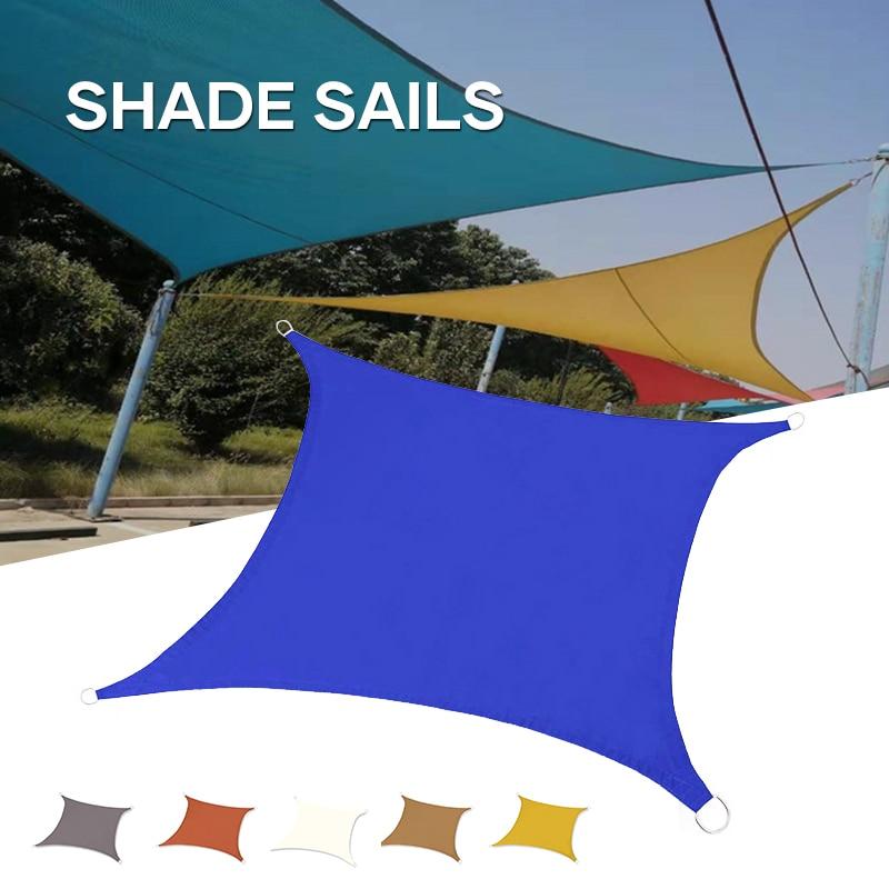 Toldo impermeable para exteriores, toldo rectangular con bloques UV, tela de sombra...
