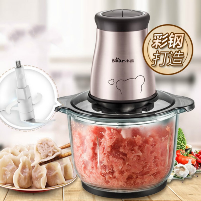 2l automático poderoso moedor de carne aço inoxidável processador alimentos elétrico multifuncional picador frutas cozinha chopper mm60jrj
