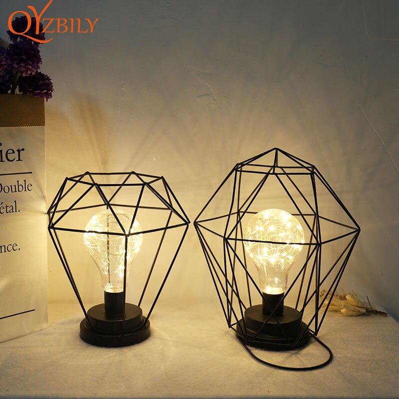 Lámpara de Mesita de Noche Retro con batería, decoración para sala de...