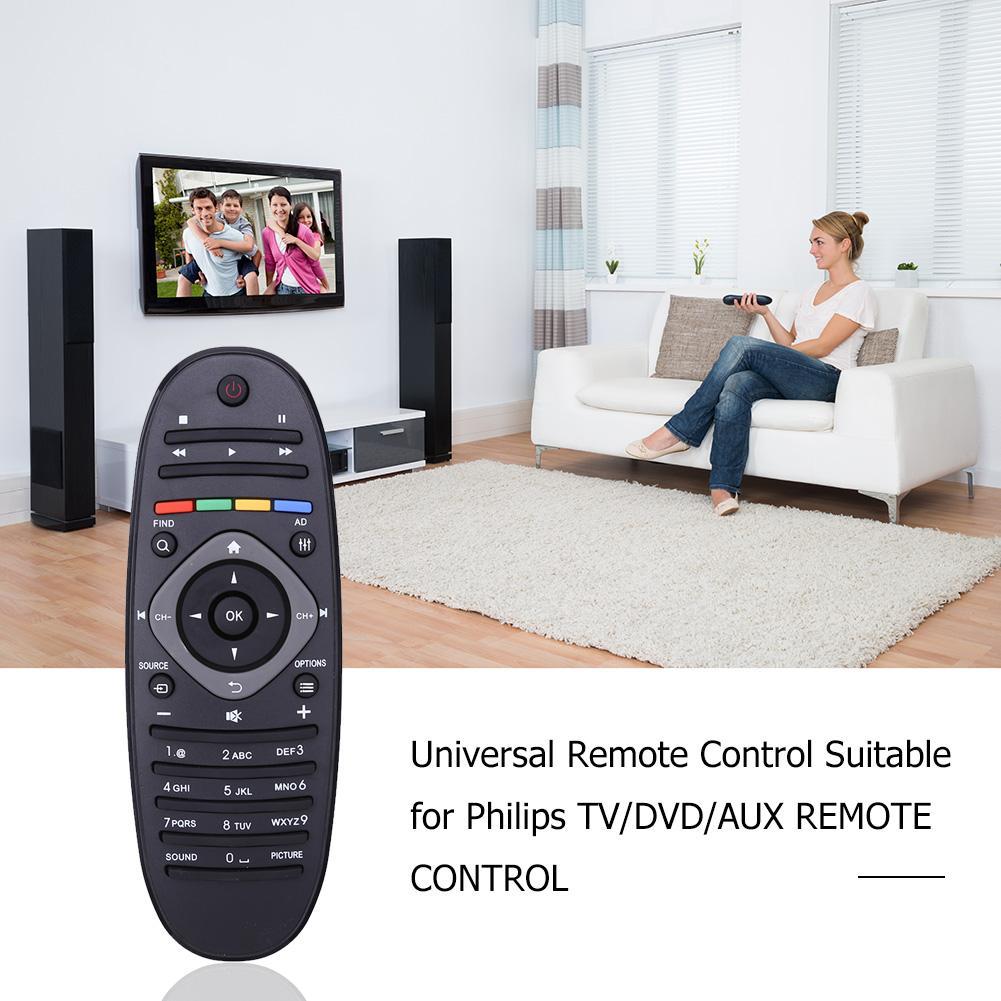 Tv controle remoto universal para philippe tv/dvd/aux controle remoto direto canal de acesso para tv digital