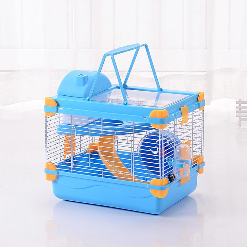 MeterMall Dreamy Doppel Schicht Transparent Dachfenster Haustier Käfig für Pet Hamster Hamster Käfig