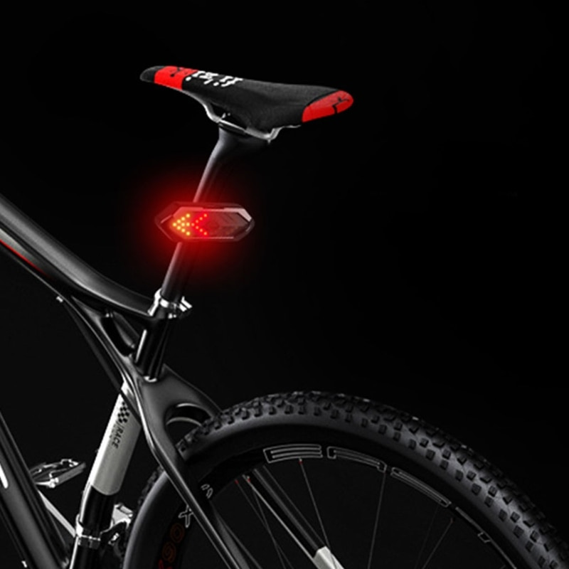 Bicycle Night Riding Warning Taillight Left / Right Turn Signal Light USB Charge