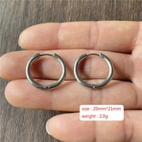 charm oval round stainless steel ear buckles for men and women banquet occasions earrings to wear jewelry