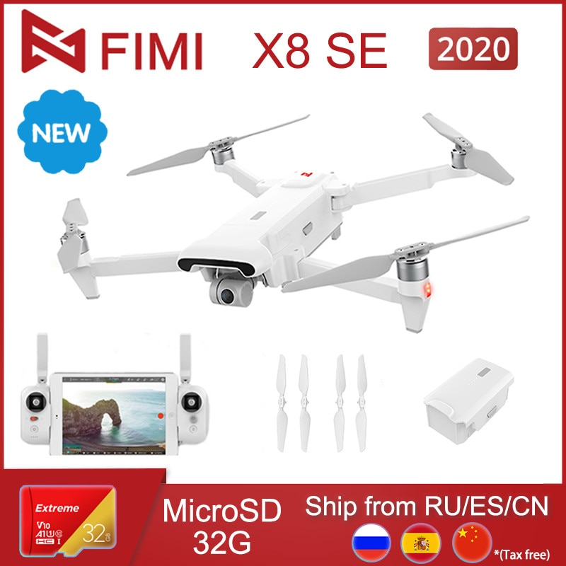 FIMI X8 SE 2020 version 4K Camera Drone 8KM FPV 3-axis Gimbal Drone with Camera GPS 35 mins Flight T
