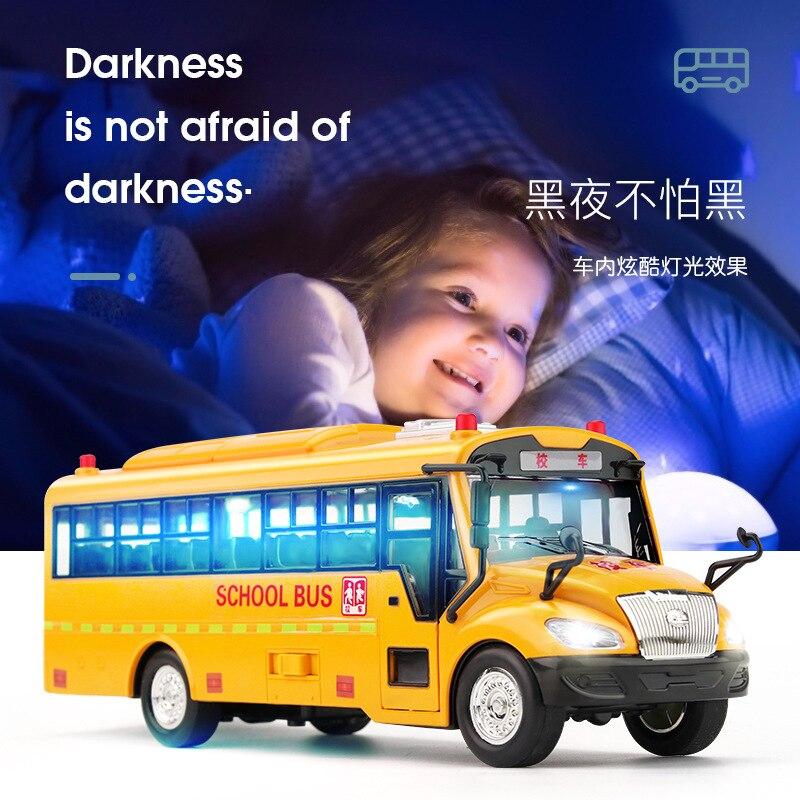 Высокое качество 30x12x12 см звук и светильник школьный автобус выдерживает падение моделирование инерции школьный автобус модель дверь можно... недорого
