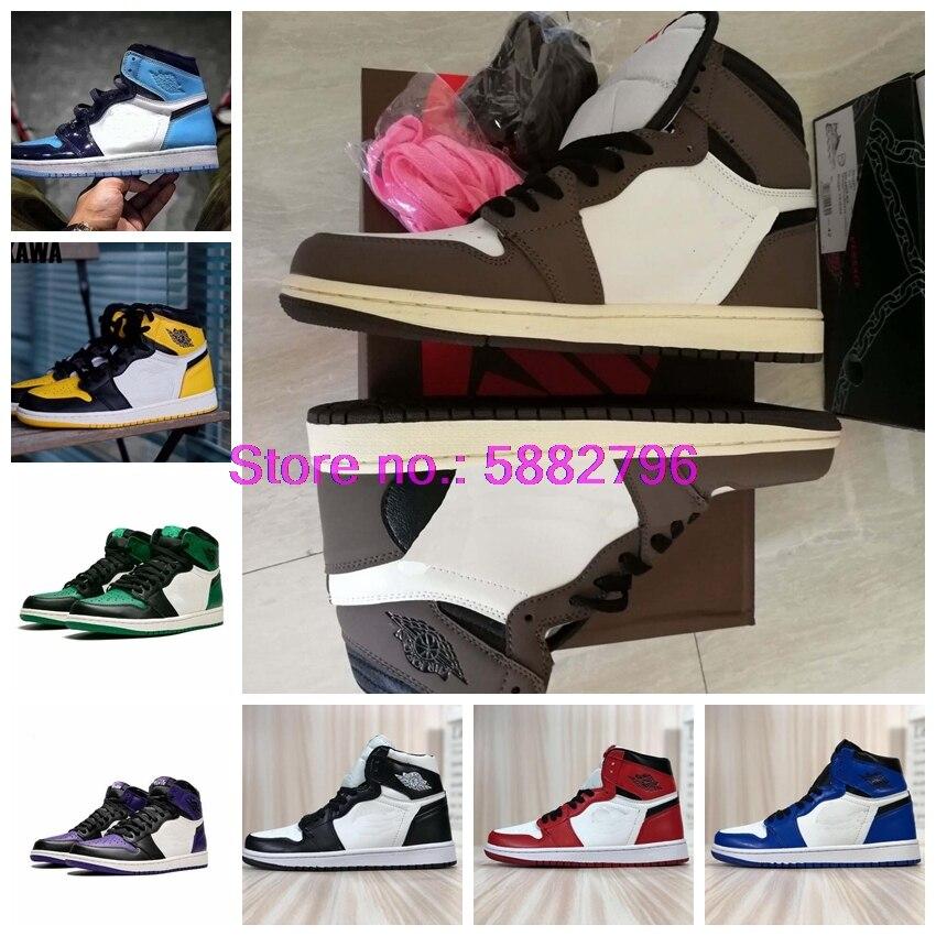 2020 1 alta tornozelo og basquete sapatos 1s superior 3 homens homenagem feminino royal sports unc sneaker 1 EUR36-46
