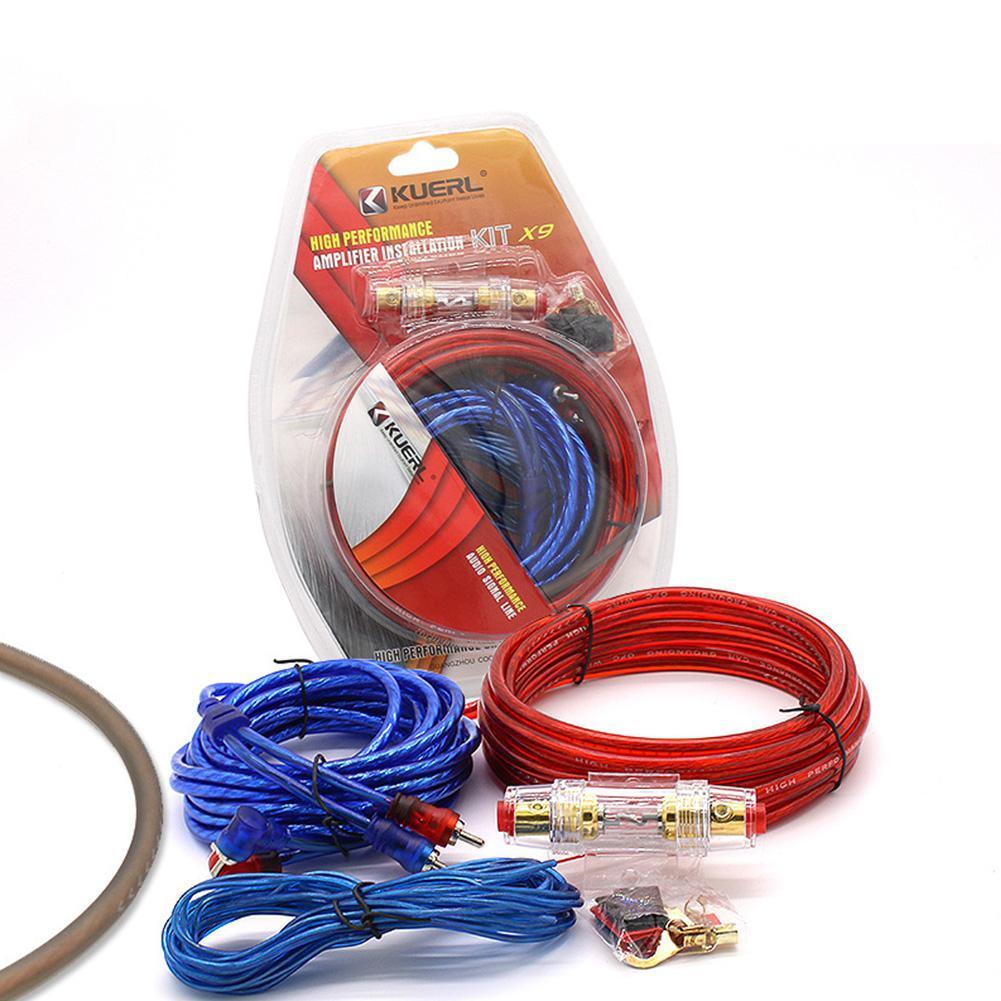 Автомобильный аудиодинамик s комплекты проводов кабель усилителя сабвуфера для установки динамика Комплект проводов 10GA кабель питания 60 а...