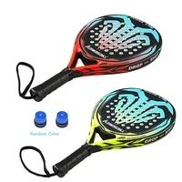 kawasaki 2021 padel tennis carbon fiber soft eva face tennis paddle racquet with padle bag cover