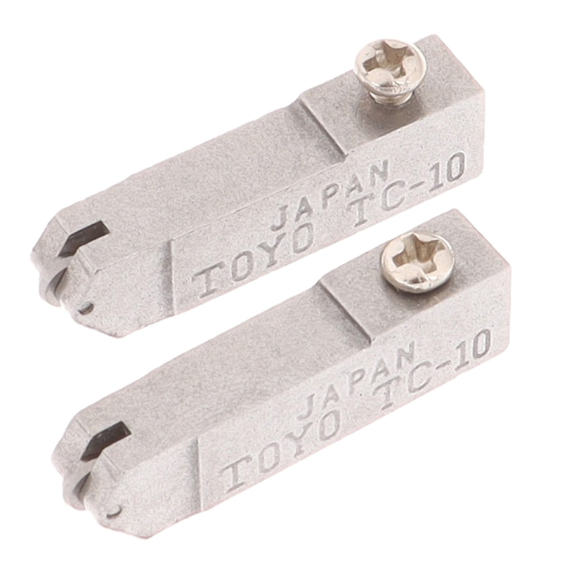 2pcs TC-10 outil de tête de coupe droite en verre haute résistance et dureté pour pièces de rechange de tête de coupe en verre