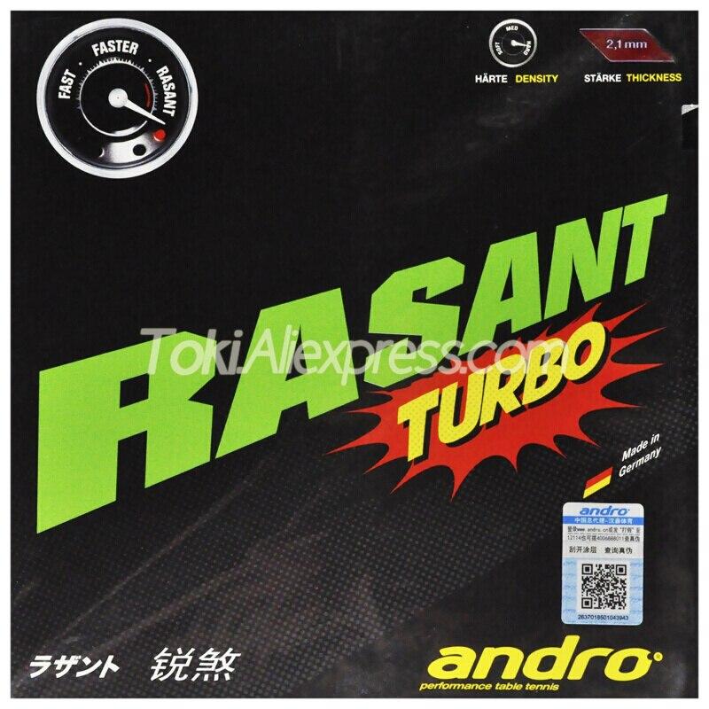 Andro RASANT TURBO Table Tennis Rubber Pips-In Original ANDRO RASANT Ping Pong Sponge