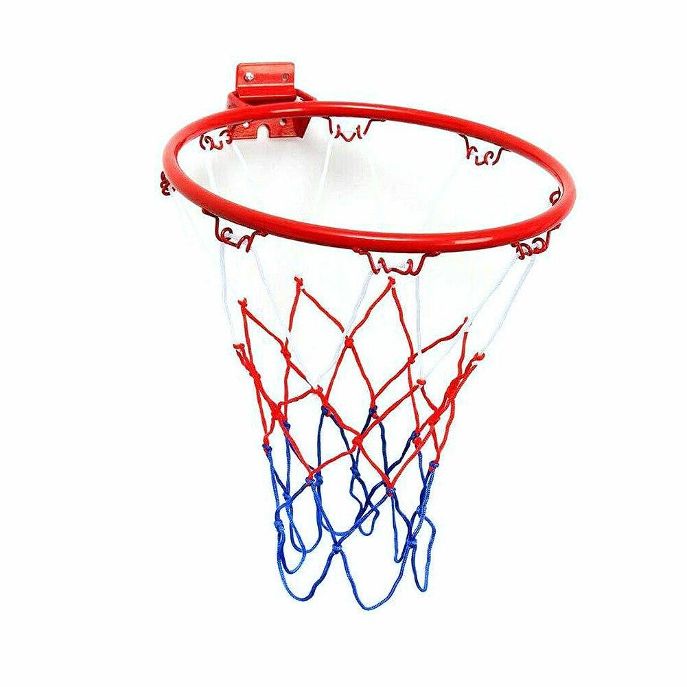 32 см Настенная баскетбольная оплетка, металлическая оправа, подвесная корзина, баскетбольная стена, баскетбольная оправа с винтами, для использования в помещении, на открытом воздухе, для спорта
