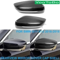 lhd rhd car styling real dry carbon fiber rearview rear side mirror cover cap shell trim sticker for bmw g11 g12 740i 750i 16 18