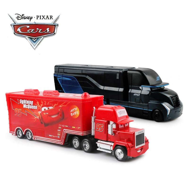 Disney Pixar Cars 2 3 juguetes Lightning McQueen Jackson Storm Mack Uncle Truck 1:55 modelo de coche fundido de juguete niños regalo de cumpleaños