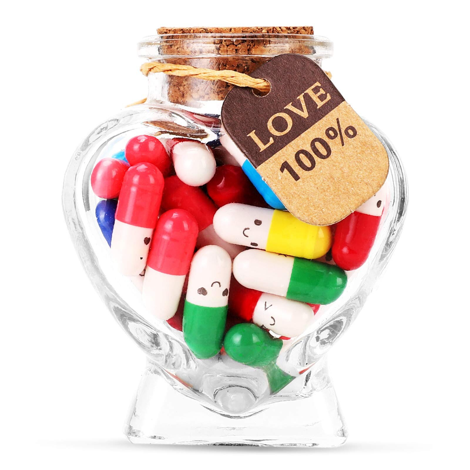 50 Pcs Mini Love Pill With Roll Paper Blank Notes Message In A Bottle Capsule Letter Full Clear Wish Bottle For Party Gift Xmas sparks n message in a bottle послание в бутылке