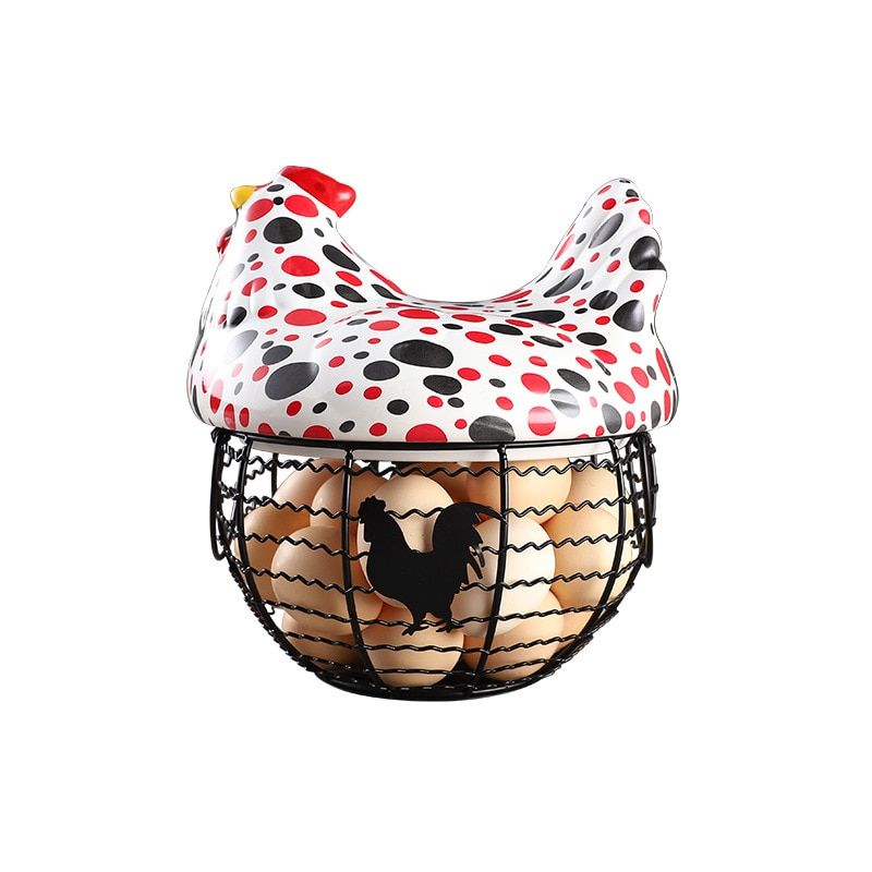 Nueva cesta de cerámica para guardar huevos de 9 estilos, soporte para huevos de pollo, fruta, caramelo, cesta para aperitivos, decoración de despedida de soltera, organizador de cocina