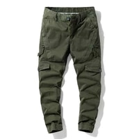 camouflage trousers military pants men multi pocket classic outdoor hiking elastic overalls loose cotton male cargo