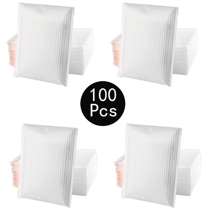 100 шт. конверты с пузырчатой пленкой, конверты с пузырчатой пленкой, конверты с пузырчатой пленкой для подарочной упаковки, самозапечатываю...